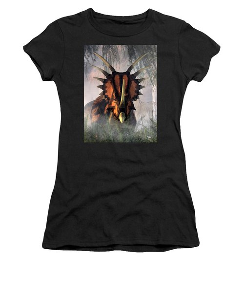 Styracosaurus In The Forest Women's T-Shirt
