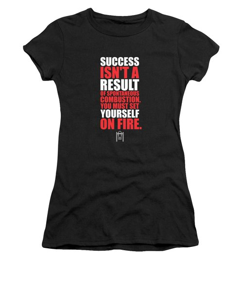 Success Is Not A Result Gym Motivational Quotes Poster Women's T-Shirt