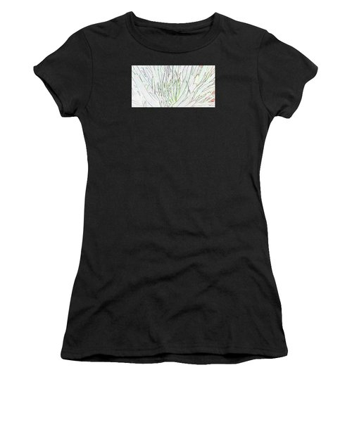 Succulent Leaves In High Key Women's T-Shirt (Athletic Fit)