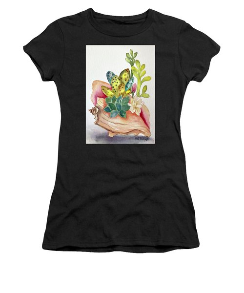 Succulents In Shell Women's T-Shirt