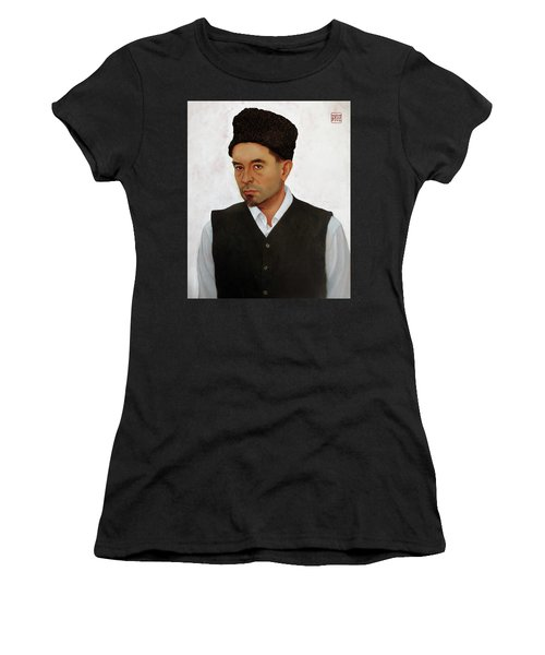 Sufi With Astrakhan Hat Women's T-Shirt (Athletic Fit)