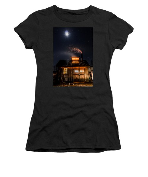 Sugar House At Night Women's T-Shirt (Junior Cut) by Tim Kirchoff