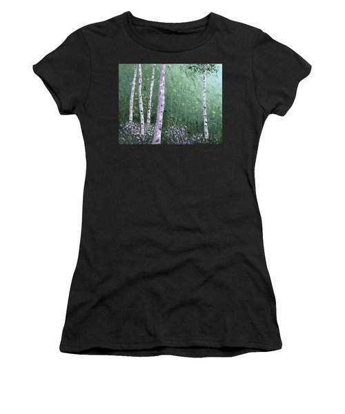 Summer Birch Trees Women's T-Shirt (Athletic Fit)