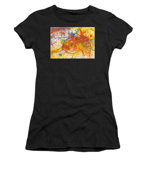 Summer Branches Alfame With Flower Acrylic/water Women's T-Shirt