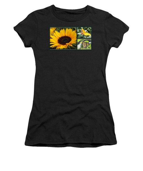 Summer Dreams - Sunflowers And Butterflies Women's T-Shirt