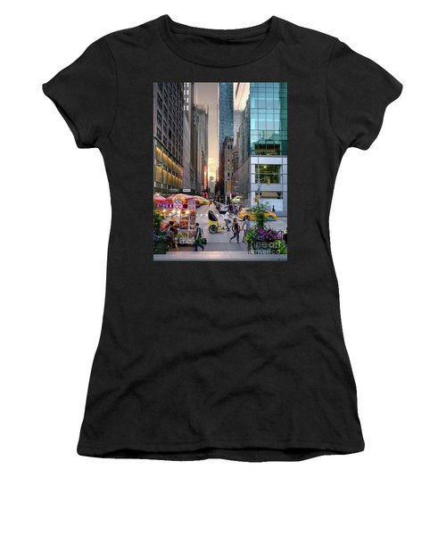 Summer Evening, New York City  -17705-17711 Women's T-Shirt (Athletic Fit)