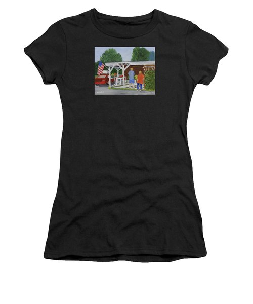 Summer Farm Stand Women's T-Shirt (Athletic Fit)