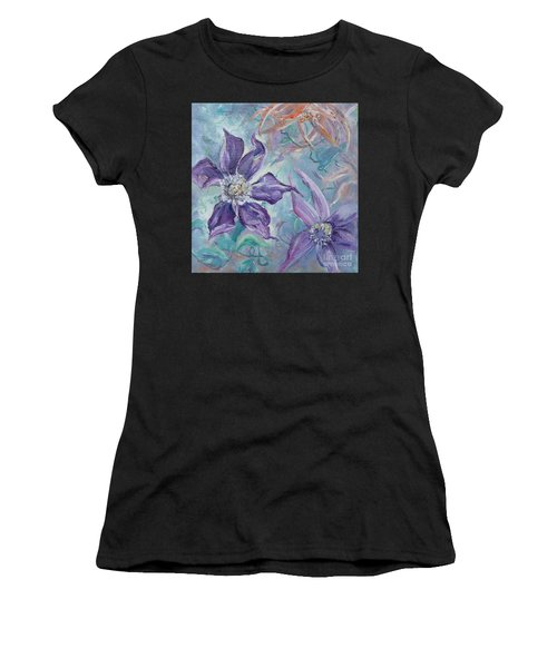 Women's T-Shirt featuring the painting Summer Flowers No. 1 by Ryn Shell