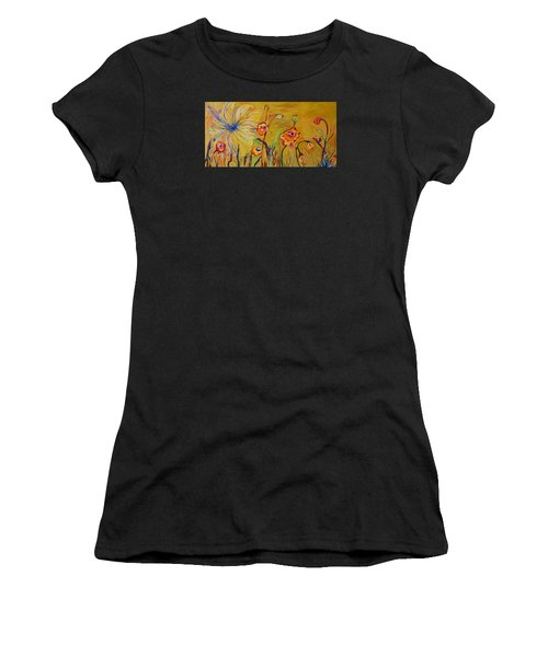 Summer Hibiscus Flower Women's T-Shirt (Athletic Fit)