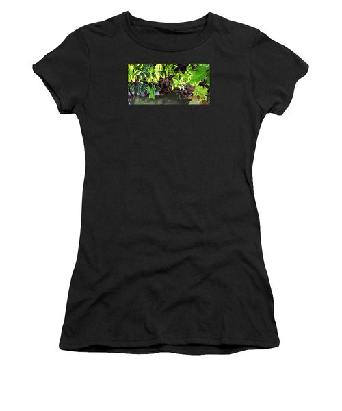 Women's T-Shirt (Junior Cut) featuring the photograph Summer Leaves by Spyder Webb