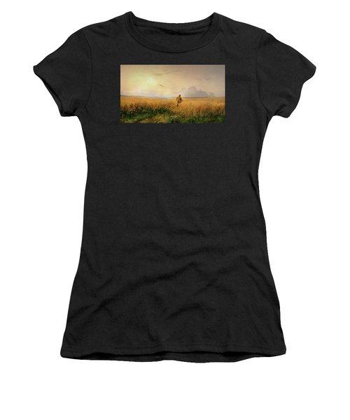 Summer Morning In The Rye Field Women's T-Shirt