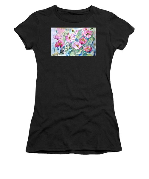 Summer Poppies Women's T-Shirt (Athletic Fit)