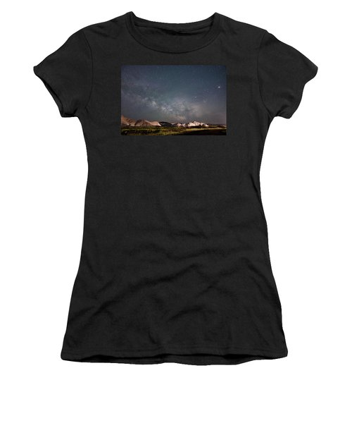 Summer Sky At Badlands  Women's T-Shirt (Athletic Fit)