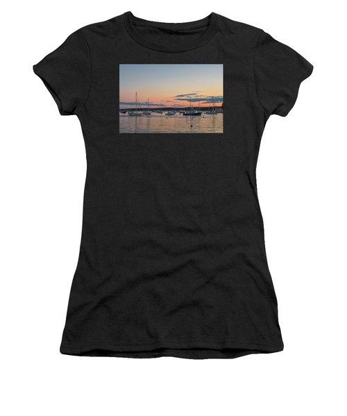 Summer Sunset In Boothbay Harbor Women's T-Shirt