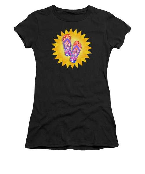 Summer Sunshine And Purple Flip-flops Women's T-Shirt