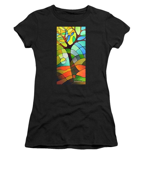 Summer Tree Women's T-Shirt (Athletic Fit)