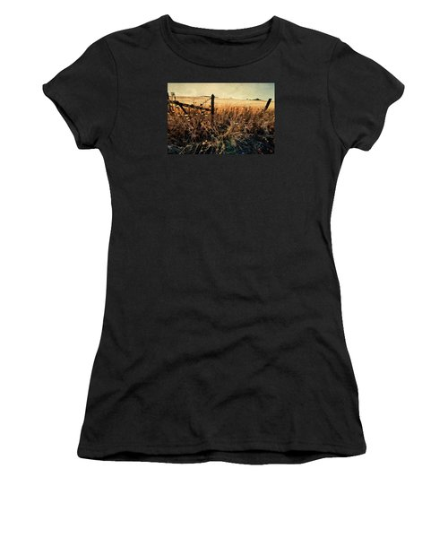Summertime Country Fence Women's T-Shirt (Athletic Fit)