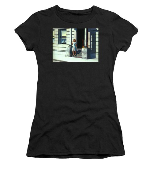 Summertime  Women's T-Shirt (Junior Cut) by Edward Hopper