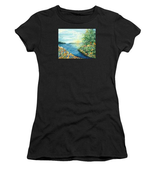 Sun And Moon Women's T-Shirt (Athletic Fit)