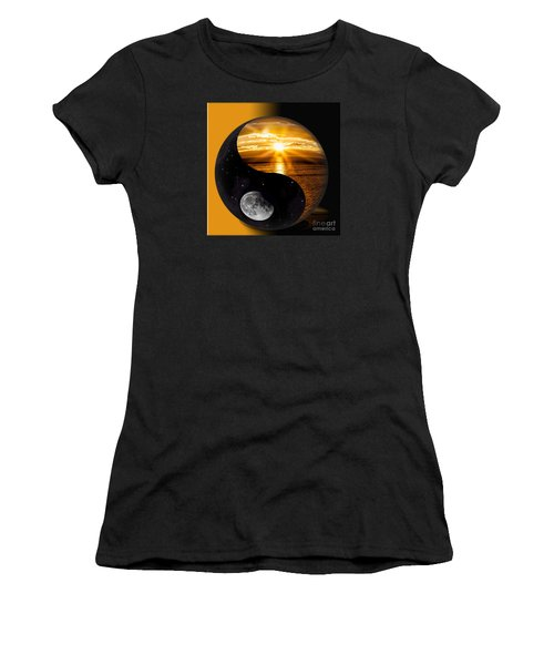 Sun And Moon - Yin And Yang Women's T-Shirt (Athletic Fit)