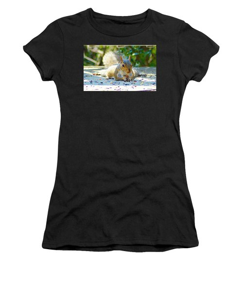 Sun Bathing Squirrel Women's T-Shirt (Athletic Fit)