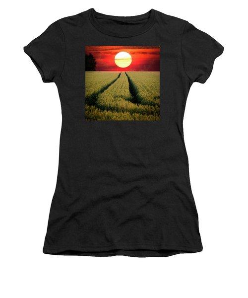 Sun Burn Women's T-Shirt (Junior Cut) by Teemu Tretjakov