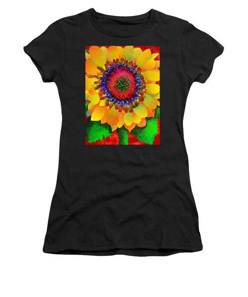 Sun Burst Women's T-Shirt (Athletic Fit)