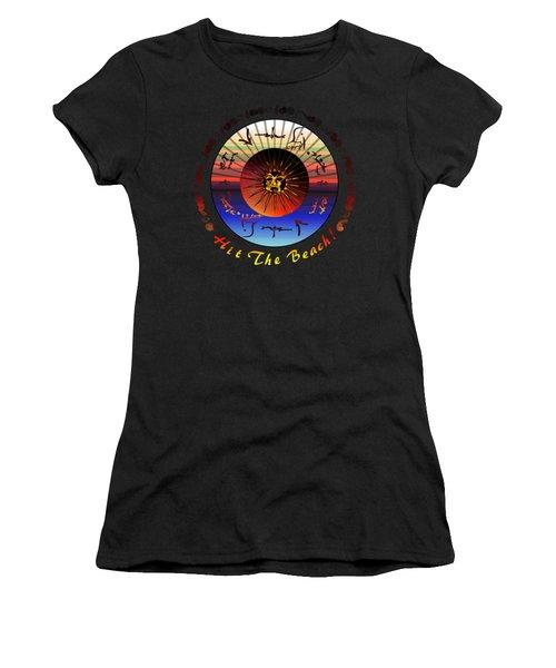 Sun Face Stylized Women's T-Shirt