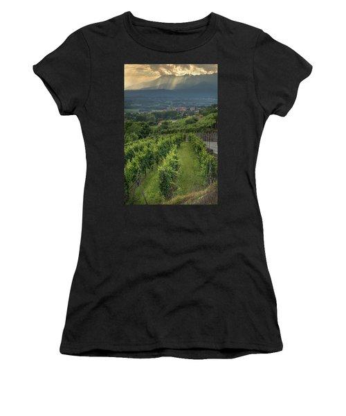 Sun Filtering Through The Clouds  Women's T-Shirt