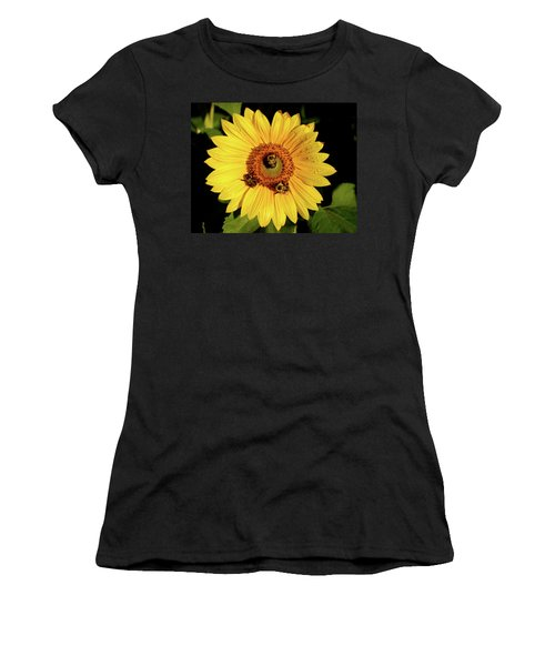 Sunflower And Bees Women's T-Shirt (Athletic Fit)