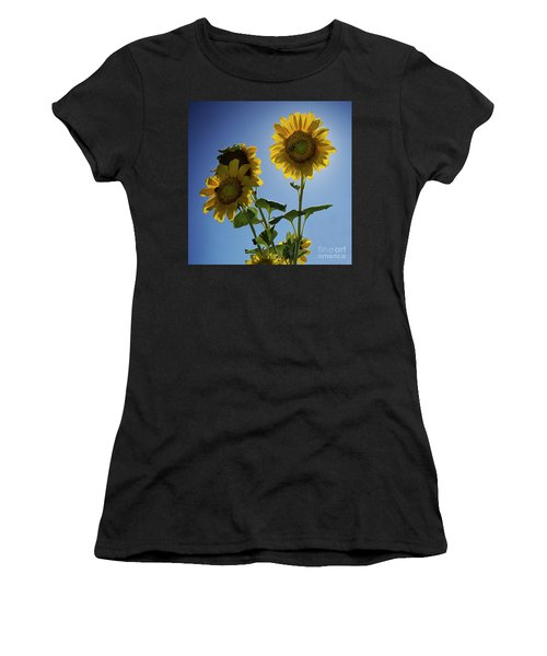 Sun Flowers Women's T-Shirt (Athletic Fit)
