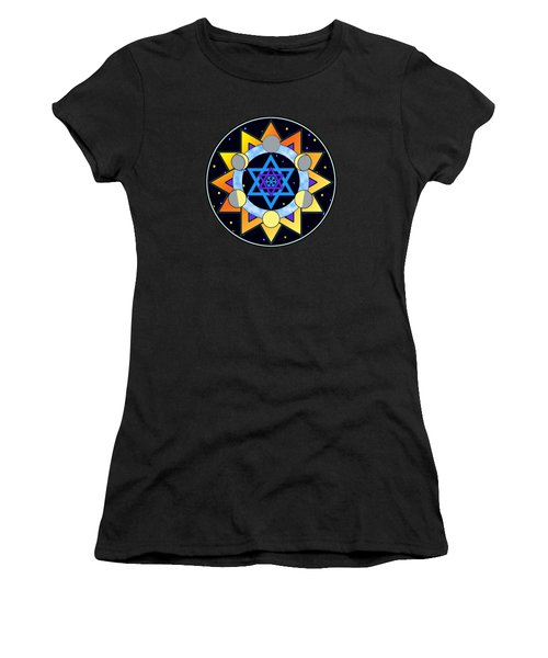 Sun, Moon, Stars Women's T-Shirt (Athletic Fit)