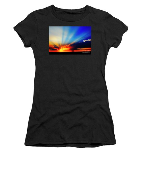 Sun Rays Women's T-Shirt (Athletic Fit)