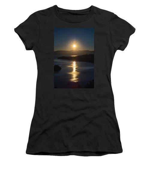 Sun Rising Over Lake Tahoe Women's T-Shirt