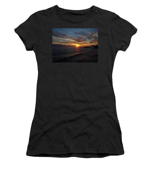 Women's T-Shirt (Junior Cut) featuring the photograph Sun Up by Bonfire Photography