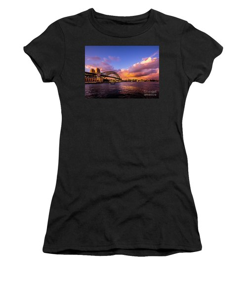 Women's T-Shirt (Junior Cut) featuring the photograph Sun Up by Perry Webster