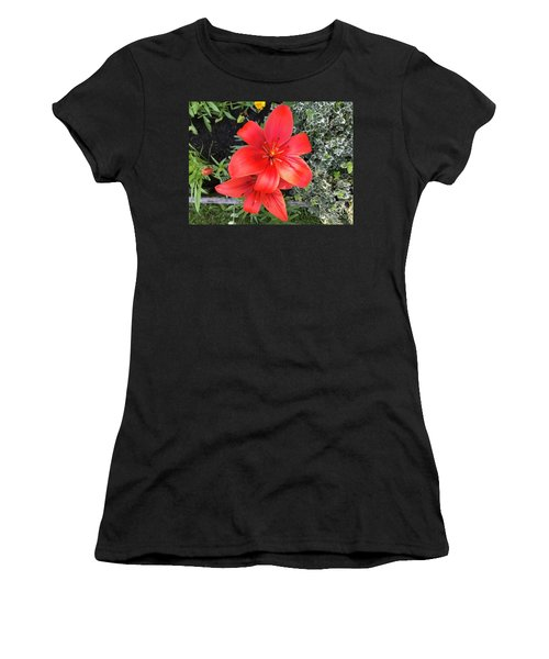 Sunbeam On Red Day Lily Women's T-Shirt