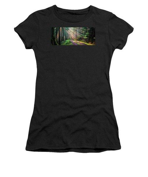 Sunbeams In Trees Women's T-Shirt