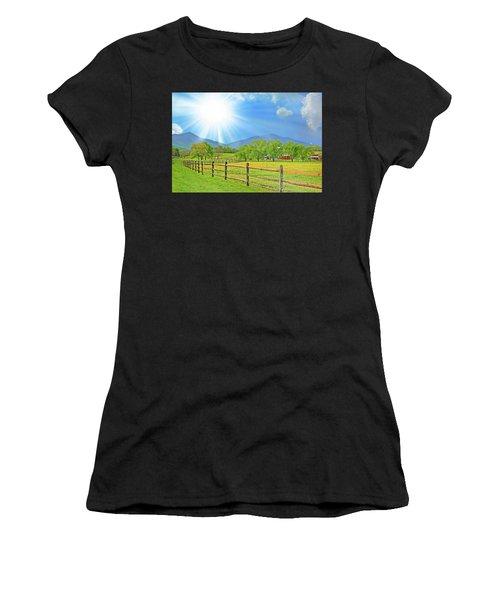 Sunburst Over Peaks Of Otter, Virginia Women's T-Shirt