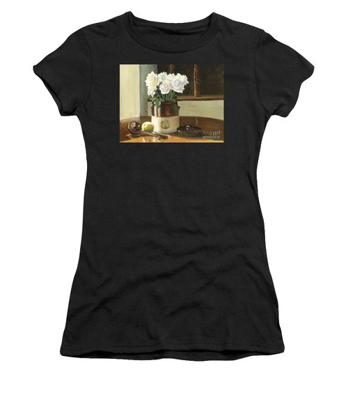 Sunday Morning And Roses - Study Women's T-Shirt