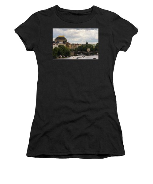 Women's T-Shirt (Athletic Fit) featuring the photograph Sunday On The Water by Alex Lapidus