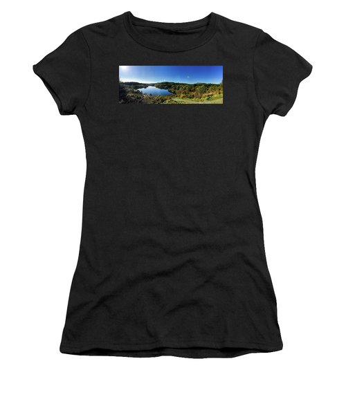 Women's T-Shirt (Athletic Fit) featuring the photograph Sunday Walk by Geoff Smith