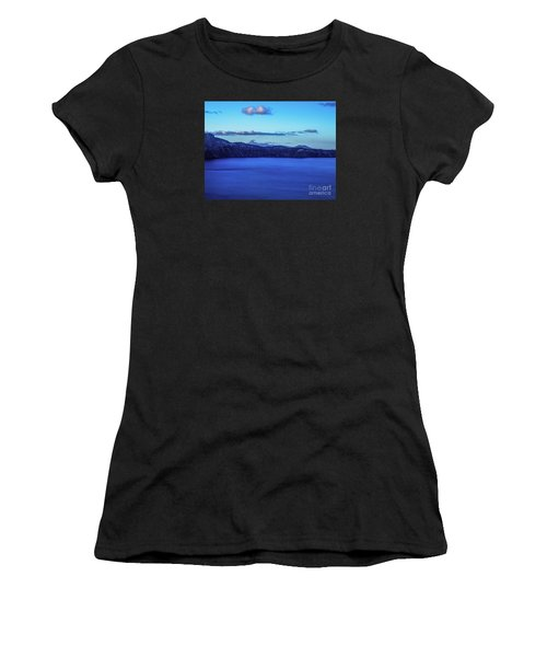 Sundown At Crater Lake Women's T-Shirt (Athletic Fit)