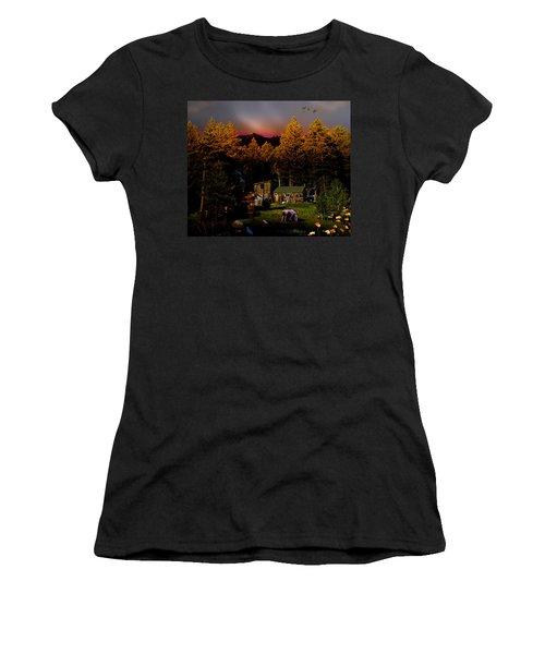 Sundown In The Rockies Women's T-Shirt (Athletic Fit)