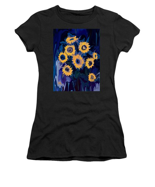Women's T-Shirt (Junior Cut) featuring the digital art Sunflower 1 by Rabi Khan