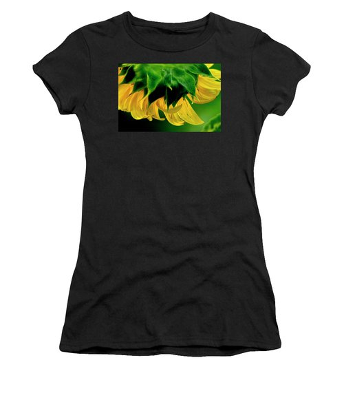 Women's T-Shirt (Athletic Fit) featuring the photograph Sunflower 2017 6 by Buddy Scott