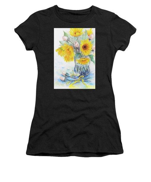 Sunflower-4 Women's T-Shirt (Athletic Fit)
