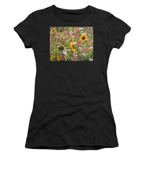 Sunflower And Cosmos Women's T-Shirt (Athletic Fit)