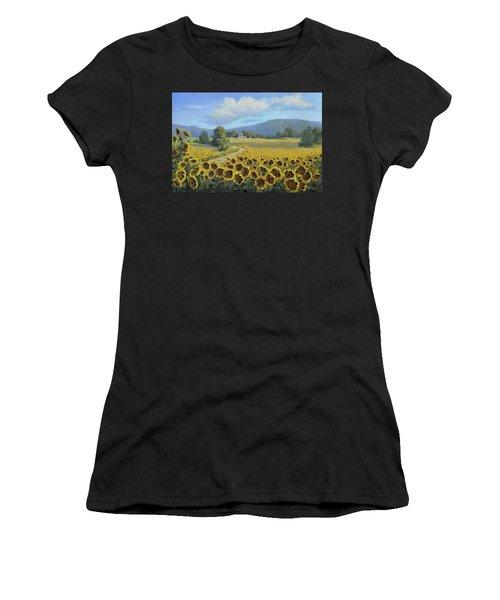 Sunflower Fields Women's T-Shirt (Athletic Fit)