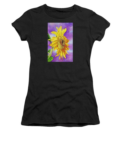Sunflower Gold Women's T-Shirt (Athletic Fit)